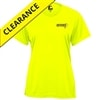 Referee Tee for women. Sizes S-2XL, safety yellow