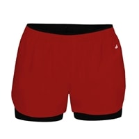 Double-Up Shorts for women. Sizes S-2XL, several color options available.