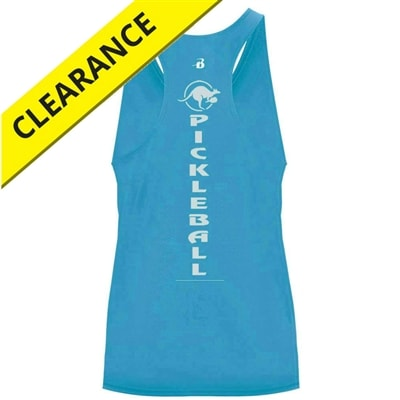 Kanga Racerback for girls. Sizes XS-XL, electric blue, hot pink