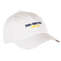 0-0-2 Cap with embroidered Zero-Zero-Two Game On logo, white