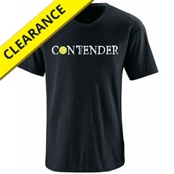 Contender Tee for Men. Sizes S-3XL, Black and Indigo