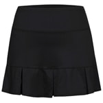 Pleated skort in black, UV-protective performance fabric. Sizes 4-14