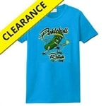 Super-soft cotton t-shirt featuring a pickleball-playing pickle. Sizes S-2XL