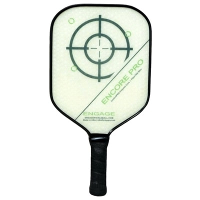 The Encore Pro Composite paddle by EngagePickleball-choose from red, purple,green or black fade design
