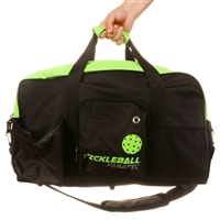 Duffle is available in three colors, features shoe or ball pocket, roomy main compartment