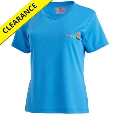 The Awesome Pickleball Shirt for women, back pockets keep pickleballs in reach, sizes Small-3X