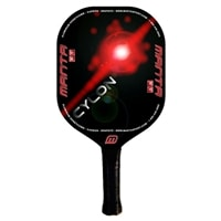 Cylon Edgeless paddle features a polymer core and graphite face, choose from green or red.