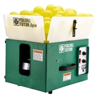 The Pickleball Tutor will be your favorite practice partner.  Battery or AC powered models, 125-ball capacity will provide hours of drills. Choose from oscillating or non-oscillating models.