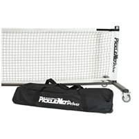 Picklenet Deluxe features heavier frame and wheels to easily move net. Includes frame, net and storage bag with wheels