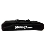 Wheeled duffel with 3 dividers to store your portable net system.
