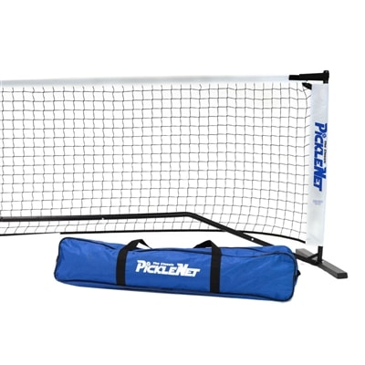 Portable Picklenet-Includes net with velcro fasteners, powder-coated frame and carrying bag.