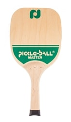 Master Wood paddle is a heavy wood paddle featuring a wide face and elongated handle.
