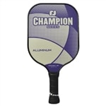 Champion Aluminum Core Paddle-colored logo and edge guard. Choose from riptide or ultraviolet