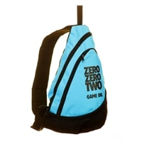Zero Zero Two, Game On Sling Bag, choose from lime, pink, or blue.