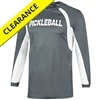 Pickleball Proud Long-Sleeve Shirt for men, choose from gray/white or black/red, sizes S-3XL