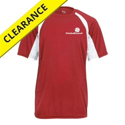 Our Performance Shirt comes in seven colors featuring white accent and PickleballCentral logo, sizes S-3XL