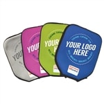 Custom Neoprene Paddle Cover featuring screen-printed logo. Available in a variety of colors.