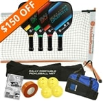 Rally NXT Deluxe Set - Portable Net, Four Paddles, Four Pickleballs, Bag, Tape and Rule Book