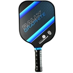 The Rally Paddle with Nomex core and graphite face, choose from red, blue, green, or yellow in middle and heavyweight models.