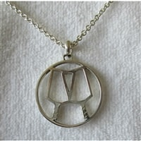 Sterling Silver PIckleball Partners Pendant, chain not included
