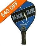 Polymer core composite paddle that comes in striking black and blue design