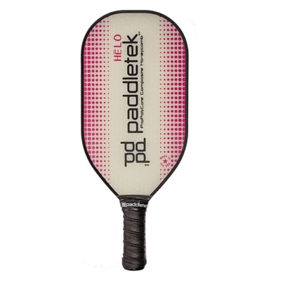 The Helo Pickleball Paddle features an elongated, oversize design for added power.