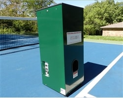 Simon-The Pickleball Machine, a battery powered machine designed for pickleball