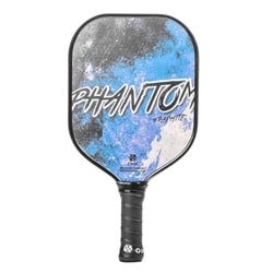 Phantom Graphite, choose from blue, red, green, white, yellow, purple or pink. Paddle features perforated cushion grip.