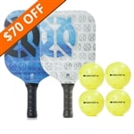 The Sub-Zero Bundle includes two graphite paddles and four balls.