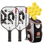 Voyager Pro Bundle, two middleweight poly-core paddles and four balls
