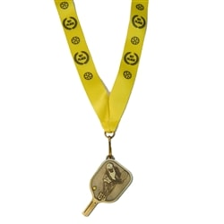 Choose from gold, silver or bronze pi ckleball medals.
