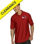 Illusion Polo with embroidered USAPA logo for Men. Sizes S-2XL. Dark Red