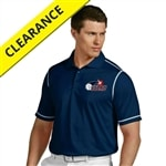 Embroidered USAPA logo on Icon Polo for Men. Sizes S-2XL. Navy/White