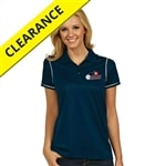 Icon Polo with embroidered USAPA logofor Women. Sizes S-2XL. Navy/White