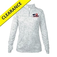 USAPA logo printed on Womens Impact Pullover. Sizes S-2XL. Silver
