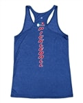 USAPA logo down center back on Racerback Tank. Sizes S-2XL. Royal