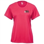 Players Tee for Women with USAPA logo. Sizes S-2XL. Navy, Red