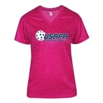 Partner Shirt with USAPA logo for Women. Sizes S-2XL. Hot Pink