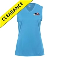 Court Sleeveless with USAPA logo for Girls. Sizes XS-XL. Columbia Blue