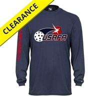 Volley Longsleeve with USAPA logo for Youth. Sizes XS-XL. Navy