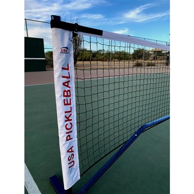 USAPA Portable Pickleball Net includes powder-coated steel frame, net and carrying bag