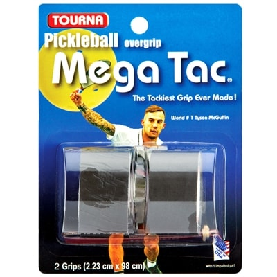 Tourna MegaTac, available in black, blue or white - package of two grip wraps