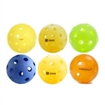 Get a mix of indoor and outdoor pickleballs in various colors: TOP Outdoor, Onix Pure 2 Indoor and Outdoor, Jugs Indoor, Dura Indoor