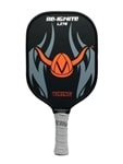 Re-Ignite Lite Graphite paddle featuring gray Durasoft grip.  Black, orange and gray logo bears the familiar Viking helmet design.