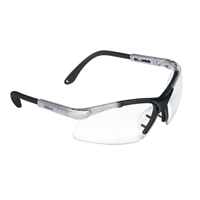 Aviator protective Eyewear by Wilson, featuring adjustable sidearms for a secure fit.