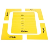 EZ Court Lines - bright yellow rubber pieces to temporarily mark your court, four corners and 12 lines