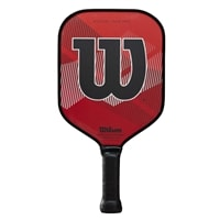 Wilson Tour Pro Pickleball Paddle, bold red and black design.