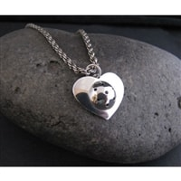 Pickleball Heart Pendant