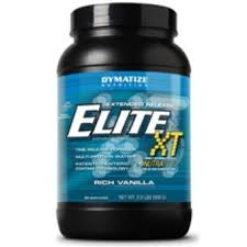 elite xt time release protein formula from dymatize