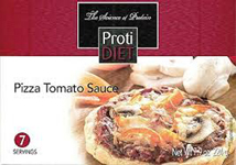 pizza with tomato sauce from protidiet